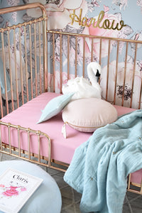 Rouge Pink I Fitted Cot Sheet