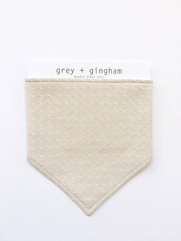 Swiss Dot Bib by Grey + Gingham
