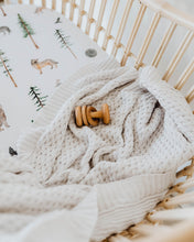 Warm Grey | Diamond Knit Baby Blanket