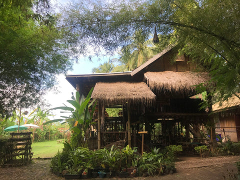 Bamboo house in Laos