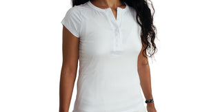 Bamboa Clothes Bamboo Ladies Round Neck T-Shirt White