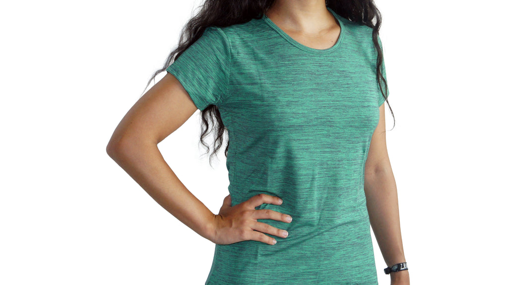 Bamboa Fashion Bamboo Ladies Fit T-Shirt Green