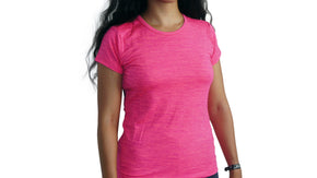 Bamboa Fashion Bamboo Ladies Fit T-Shirt Rose