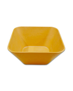 Bamboa Bamboo Fiber Square Salad Bowl yellow