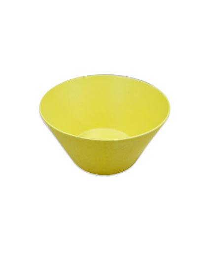 Bamboa Fibra Bamboo Round Bowl Small Yellow