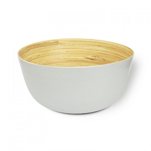 Bamboa Kitchen Bamboo Carlito Bowl White