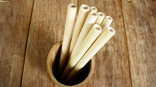 Bamboa Kitchen Bamboo Straw Natural