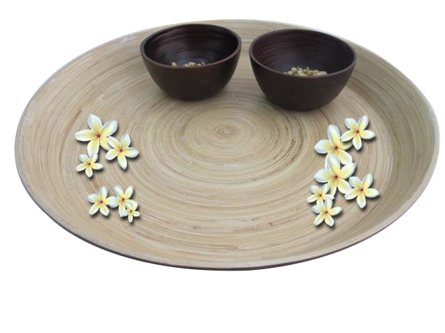 Bamboa Spa Bamboo Welcome Tray Naturel