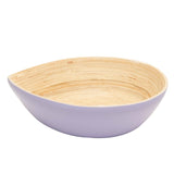 Bamboa Spira Tear Bamboo Bowl Medium - Salad Bowl Lavender