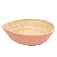 Load image into Gallery viewer, Bamboa Spira Tear Bamboo Bowl Medium - Salad Bowl Flamingo
