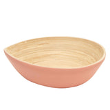 Bamboa Spira Tear Bamboo Bowl Medium - Salad Bowl Flamingo