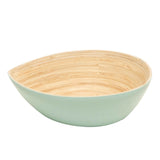 Bamboa Spira Tear Bamboo Bowl Medium - Salad Bowl Mint