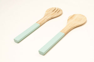 Bamboa Servo Bamboo Salad Utensils Mint