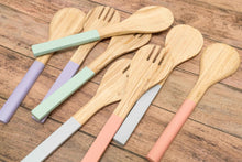 Load image into Gallery viewer, Bamboa Servo Bamboo Salad Utensils