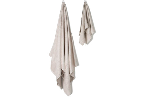 Bamboa towels made of 100% bamboo for an eco-firendly and organic home. Available in cream color.