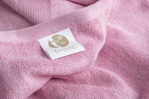 Bamboa towels made of 100% bamboo for an eco-firendly and organic home. Available in rose color.