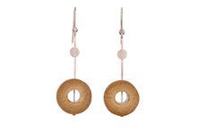 Load image into Gallery viewer, Bamboo Handcrafted Earrings - Silver Sun