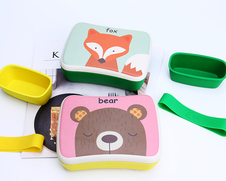Bamboa Biodegradable Bamboo Fiber Lunch Box For Kids