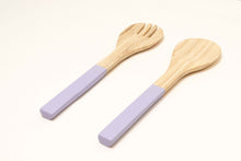 Load image into Gallery viewer, Bamboa Servo Bamboo Salad Utensils Lavender