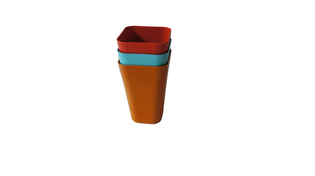 Bamboa Fibra Bamboo Square Tumbler Collection