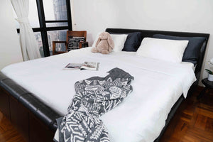Organic White Flat sheet + Pillowcases set by Bamboa