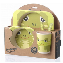 Load image into Gallery viewer, Kiddies Bamboo Dining Set For Kids