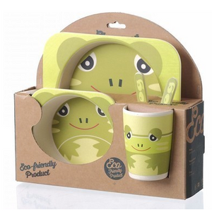 Bamboa Fibra Bamboo Dining Set For Kids