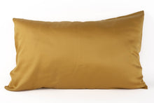 Load image into Gallery viewer, Bamboa's bamboo pillowcase made from bamboo fibers are the eco-friendly choice for your bed. Available in mustard color.