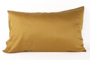 Bamboa's bamboo pillowcase made from bamboo fibers are the eco-friendly choice for your bed. Available in mustard color.