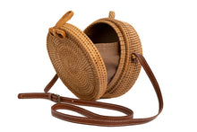 Load image into Gallery viewer, Bamboo + Rattan Ronda Bag
