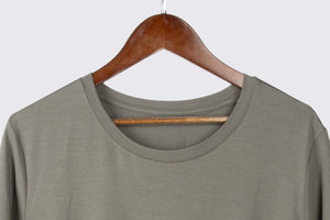 ECOFLOW Ladies Solid Bamboo Round Neck T-shirt
