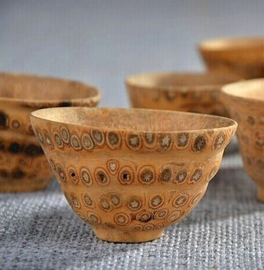 Bamboo root tea cup