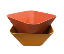 Load image into Gallery viewer, Bamboa Bamboo Kitchen Fibra Bamboo Fiber Square Bowl Red