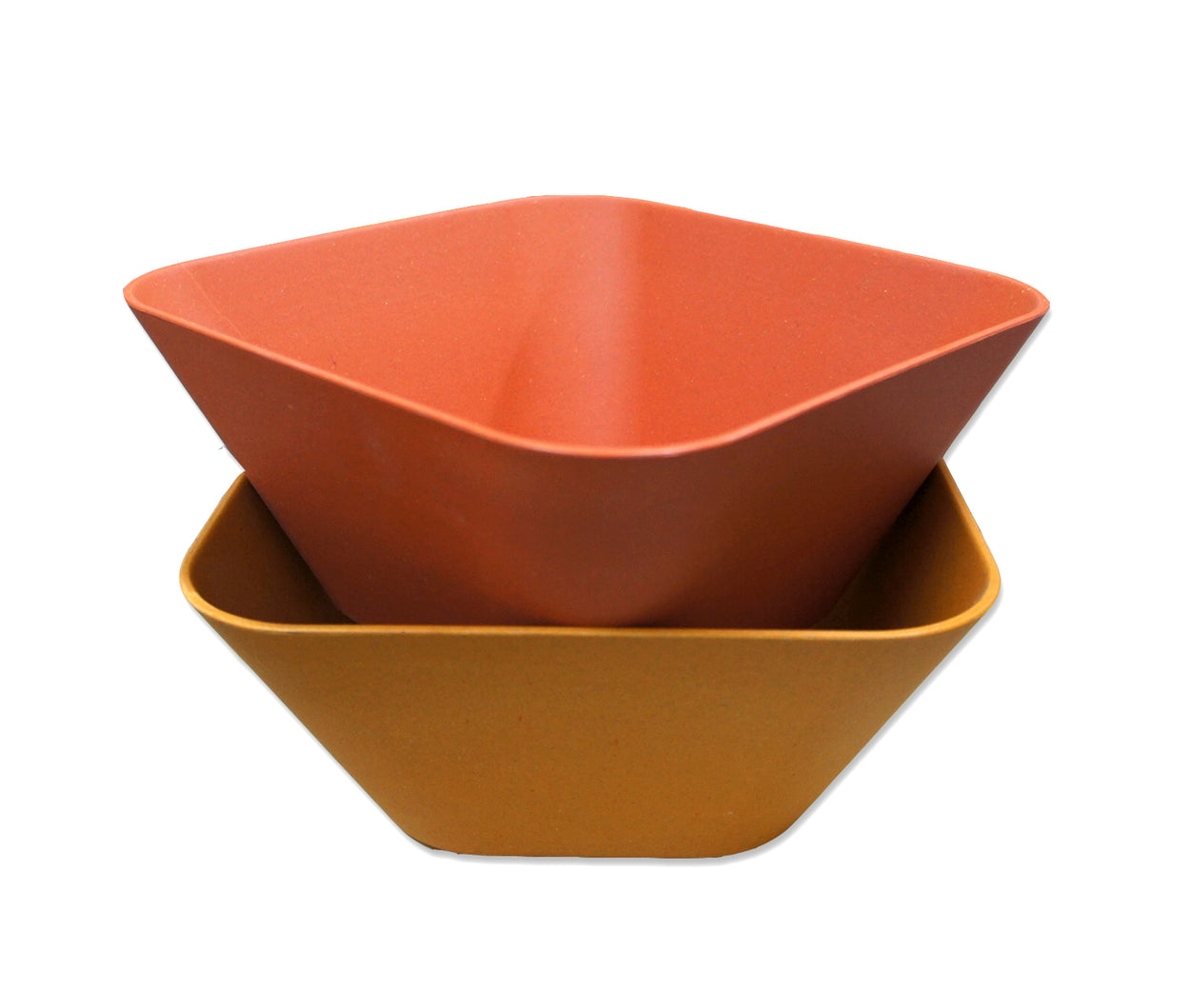 Bamboo Kitchen Fibra Bamboo Fiber Square Bowl Red