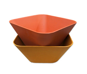 Bamboa Bamboo Kitchen Fibra Bamboo Fiber Square Bowl Red