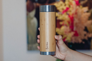 Booflask Bamboo Tea & Coffee Flask
