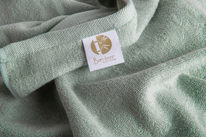 Bamboa towels made of 100% bamboo for an eco-firendly and organic home. Available in green.