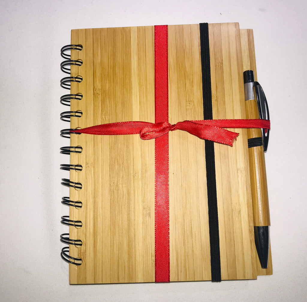 Bamboa Bamboo notebook with pen
