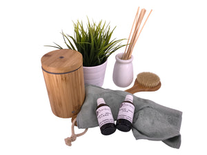 bamboa bath essential oils and diffuser