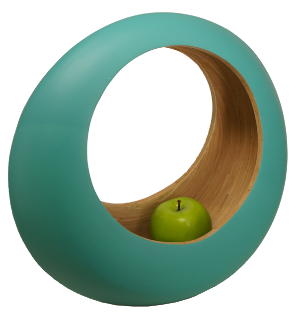 Bamboa Kitchen Bamboo Loop Fruit Bowl Green