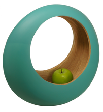 Load image into Gallery viewer, Bamboa Kitchen Bamboo Loop Fruit Bowl Green