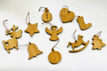 Load image into Gallery viewer, Bamboo Christmas Tree Ornaments