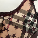 BURBERRY BERRY NOVA STARS PRINTED CANVAS HERNVILLE SMALL HOBO