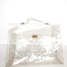 HERMES LIMITED EDITION CLEAR VINYL KELLY 40 SOUVENIR BAG