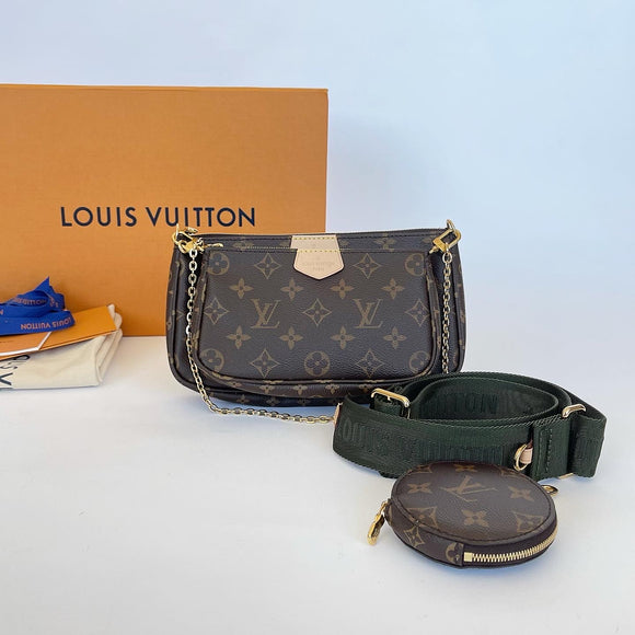 LOUIS VUITTON MULTI POCHETTE ACCESSORIES IN KHAKI