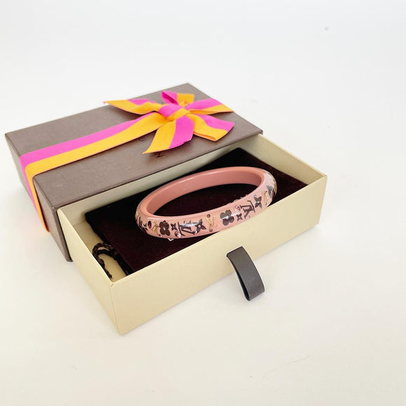 LOUIS VUITTON INCLUSION PINK BANGLE