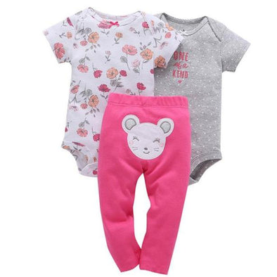 Lil Flower 3Pcs Cotton Fleece