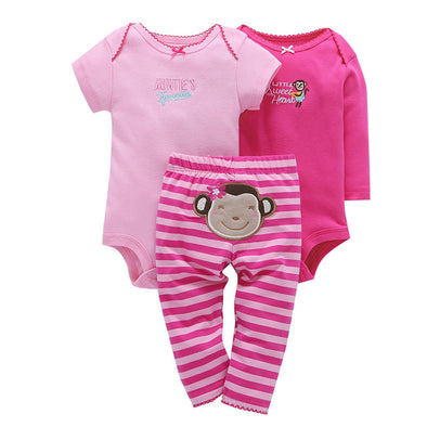 Pink 3Pcs Body Cute Cotton Fleece