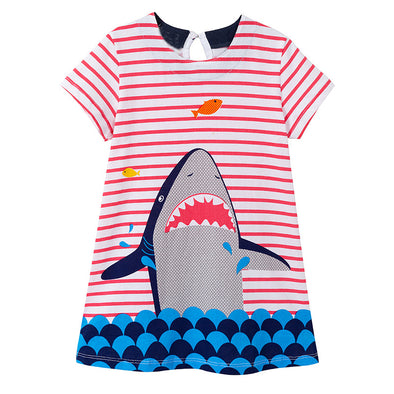 Blue Stripes Baby Girls Summer Dress