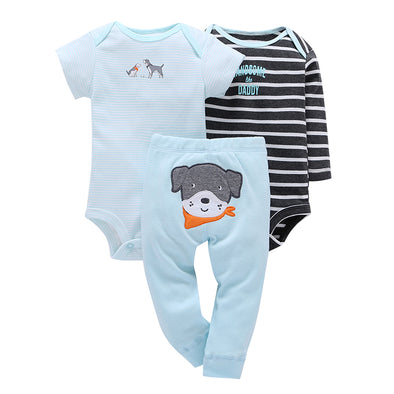 Blu Sky 3Pcs Infant Cotton Fleece